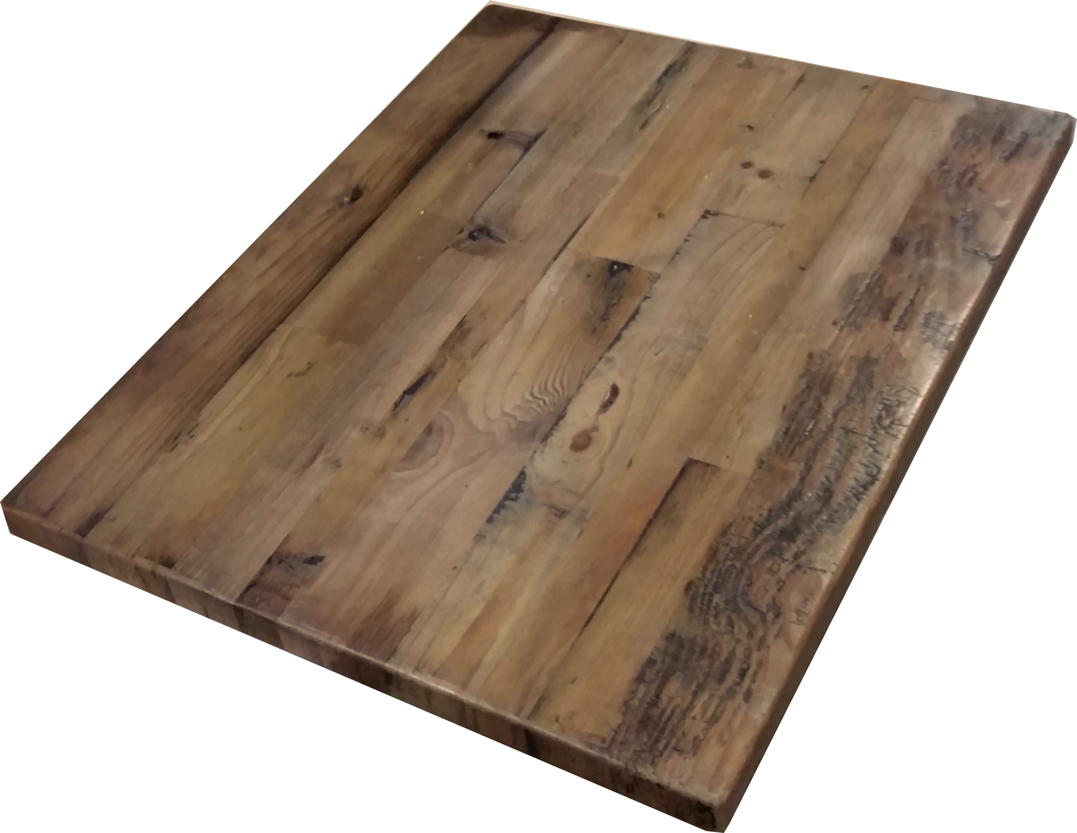 Reclaimed wood straight plank table tops economy for Reclaimed wood online