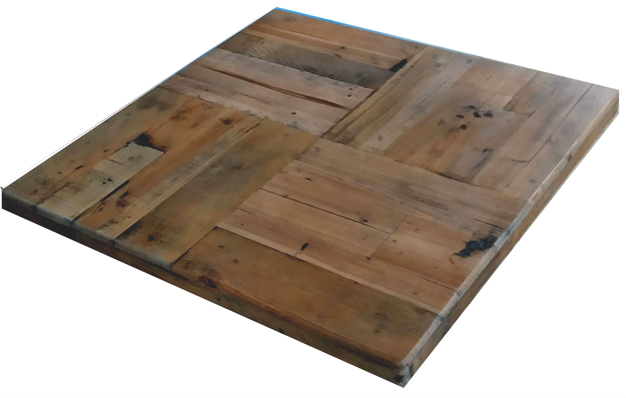 Reclaimed Wood Parquet Pattern Tabletops Restaurant Cafe Supplies Online