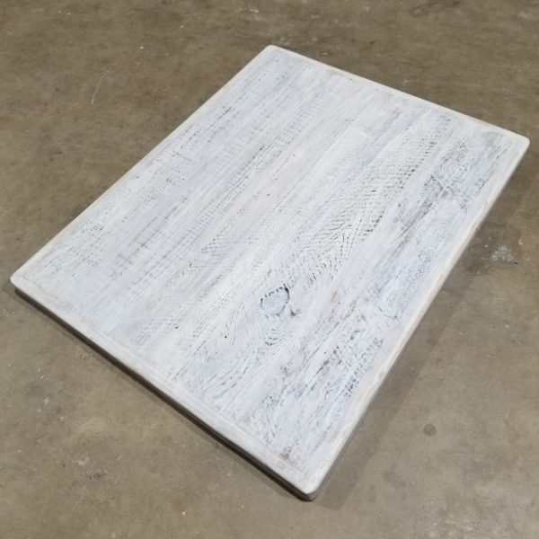 Reclaimed Wood Table White Wash