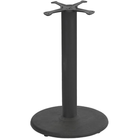 Round Metal Table Base - Black