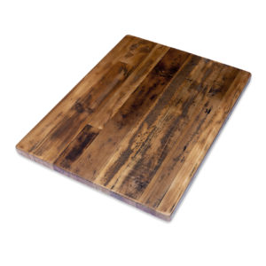 Straight Plank Reclaimed Wood Tabletop - Economy