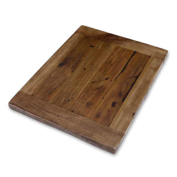 Solid Reclaimed Wood Tabletop with Breadboard Ends