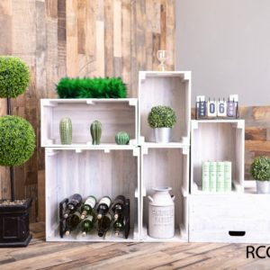 White Reclaimed Wood Crates