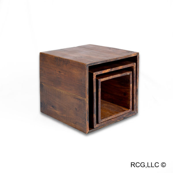 Reclaimed Wood Telescoping Boxes